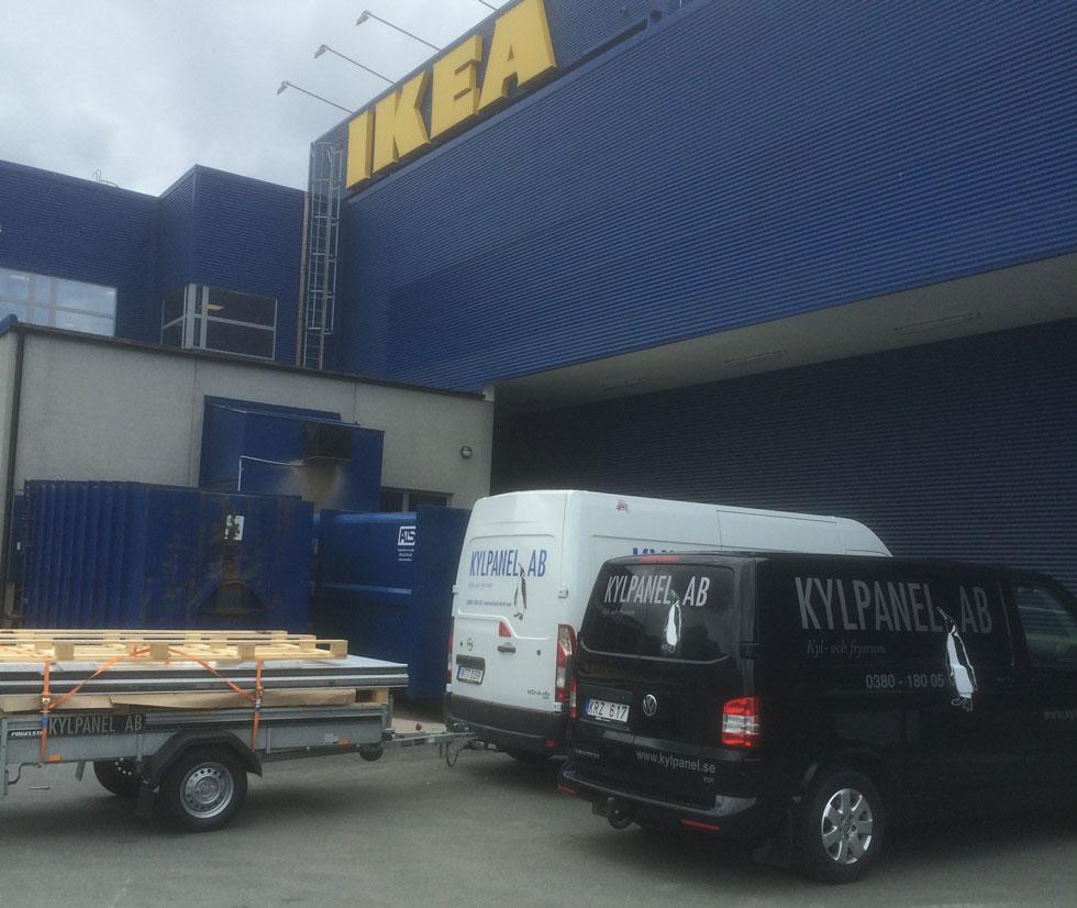 Kylpanel levererar kylrum och frysrum med sandwichpanel till IKEA